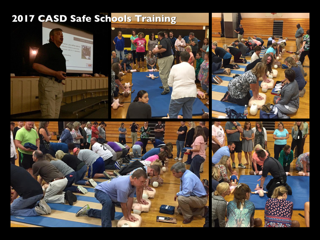 CASD Teachers Participate in Safe Schools Training - First Aid, Hands Only CPR, and AED