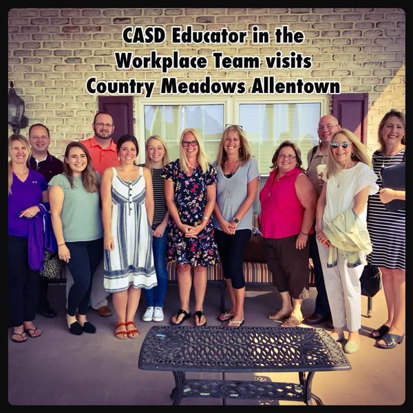 Educator in the Workplace Visit to Country Meadows